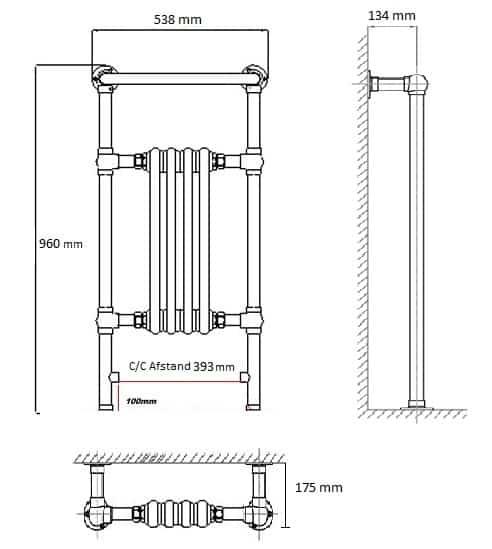 OXFORD CLASSIC Håndklæderadiator 538/960-1105