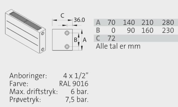LAVKONVEKTOR K21 280/400-4000mm-2883